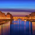 Ponte Vecchio Nigth Panorama by Evgeni Nedelchev