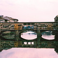 Ponte Vecchio Sunset Photograph by Kimberly Walker