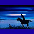 Pony Express Rider Blue by Reggie Hart