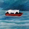Pony In A Red Boat by Katt Yanda
