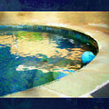 Pool With Blue Ball by Marty Malliton