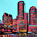 Pop Art Boston Skyline by Dan Sproul