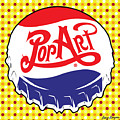 Pop Art Bottle Cap by Gary Grayson
