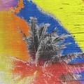 Pop Art Coconut Tree Retro Tropical Vintage Palm  by Beverly Claire Kaiya