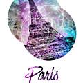 Pop Art Eiffel Tower Graphic Style by Melanie Viola