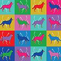Pop Art German Shepherd Dogs by MM Anderson