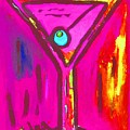 Pop Art Martini  Pink Neon Series 1989 by Sidra Myers