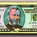 Crisp New 50 Dollar Bill Gold Green Pop Art  by Tony Rubino