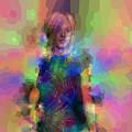 Pop Portrait Of Amber by Judi Suni Hall
