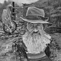 Popcorn Sutton - Black And White - Rocket Fuel by Jan Dappen