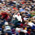 Pope Francis In Crowd Of Faithful Acrylic 6 by Tony Rubino