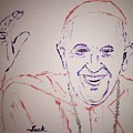 Pope Francis Waves by Jack Bunds