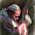 Pope John Paul II by Ylli Haruni
