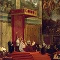Pope Pius Vii Luigi Barnaba Chiaramonti Attending Chapel 1820 by Ingres Jean Auguste Dominique