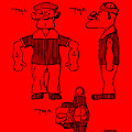 Popeye Doll Patent 1932 In Red by Bill Cannon