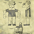 Popeye Doll Patent 1932 In Weathered by Bill Cannon
