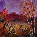 Poplars In Autumn  by Pol Ledent