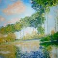 Poplars On The Epte Claude Monet by Rosemarie Perks