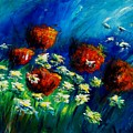 Poppies And Daisies  by Veronique Radelet