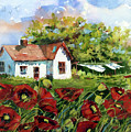 Poppies And Laundry by Suzy Pal Powell