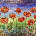 Poppies At Night by Agnieszka Adamska