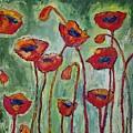 Poppies I by Jo Gerrior