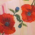 Poppies In Love by Murielle Hebert