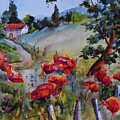 Poppies In The Field by Jacqueline  Newbold