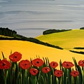 Poppies In The Hills by Edmund Akers