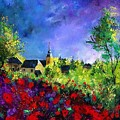 Poppies In Villers by Pol Ledent