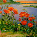 Poppies Near The River by Olha Darchuk