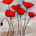 Poppies Painting by Lutz Baar