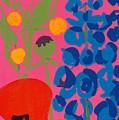 Poppy And Delphinium by Sarah Gillard