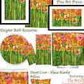 Poppy Bloomies Decorator Collection by Carol Cavalaris