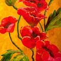 Poppy Bouquet by Joy of Life Art Gallery