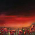Poppy Fields At Dawn by Neadeen Masters