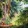 Poppy Garden Landscape by Irina Sztukowski