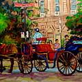 Popular Quebec Artists Carole Spandau Painter Of Scenes De Rue Montreal Street Scenes by Carole Spandau