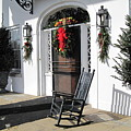 Porch At Boone Hall Plantation Charleston Sc by Susanne Van Hulst