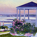 Porch At Sunet by Candace Lovely