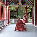 Porch With Rocking Chairs by Stefani Smirnes