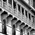 Porches Of Flagler College by Larry Jones