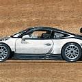 Porsche 911 Gt3r On Wood by Alain Baudouin