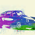 Porsche 911 Watercolor by Naxart Studio