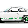 Porsche Carrera Rs Illustration by Alain Jamar