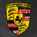 Porsche Sports Car Logo Recycled Vintage License Plate Car Tag Art by Design Turnpike