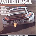 Porsche Vallelunga Vintage Racing Poster by Georgia Fowler