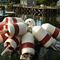 Port Clyde Maine Bouys by Doug Mills