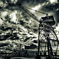 Port Crane At Dusk by Ddzphoto