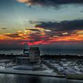 Port Everglades Sunrise by Judy Hall-Folde